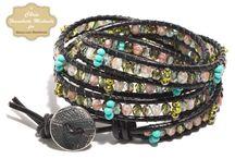 Leather wrap bracelets / by Healthy Girl's Kitchen