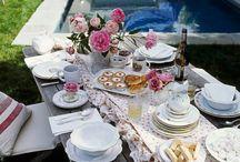 Tea Party tablescapes / by Joan Boudreaux