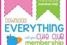 CUTE CLUB membership with Lauren McKinsey / the CUTE CLUB is an EXCLUSIVE membership program that allows you to download everything in the Lauren McKinsey store.   / by Lauren McKinsey