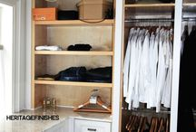 Closets / Some Custom Closets we have done for previous clients / by Heritage Finishes