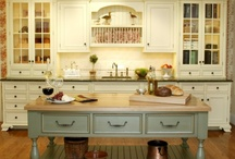 Kitchen / A beautiful, functionally designed kitchen is a given...but the decor makes me want to spend time there. / by Judy Clear