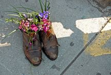Guerrilla gardening / The basic philosophy — see something old and scrappy, add a plant. / by Иванко Тодоров