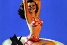 my love of vintage pin ups / by Misti Miller