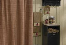 Primitive Shower Curtains / by Allyson's Place