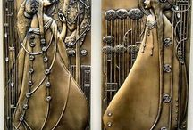 """Art Nouveau  / """"The purpose of art is washing the dust of daily life off our souls. """" - Pablo Picasso   / by : barbarella :"""