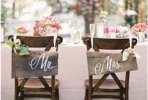 WEDDING   BRIDE & GROOM CHAIRS / by Ms Vee 413
