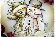 Snowman cards / by Creanne