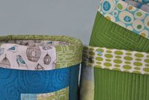 Fabric Buckets / by Pam Raby