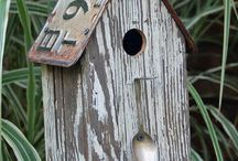 Birdhouses, baths and feeders / I started this board looking for ideas for using salvage material. And as I discovered what magnificent birdhousesr are being made I just got increasingly excited. I have no connection to any but 3 of the birdhouses on here. / by Donna Passmore