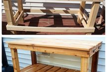 Potting bench / by Lorraine Enns-Seright