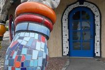 Hundertwasser- mosaics etc / by Fiona Cheng