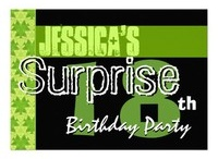 Birthday Parties -  SURPRISE - 18th SURPRISE Birthday Party! / See more at www.zazzle.com/jaclinart_surprise*/ and at www.zazzle.com/jaclinart*/ / by JaclinArt