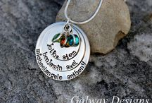 Hand Stamped Necklaces / by Galway Designs
