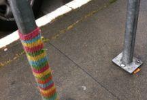 Yarn bombing! / by Diana Lutz