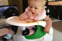 Baby led eating  / Pictures of babies self feeding. Recipes the whole family can use. Stress less and embrace the mess! / by Rebecca Scritchfield