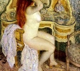 Frederick Carl Frieseke / Lady in Pink / by Masterpiece Art