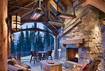 Inside Beautiful Log Cabins / by Rocky Mountain Decor