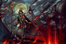 """Kali  / Kālī, also known as Kālikā, is the Hindu goddess associated with empowerment, shakti. Kali means """"the black one"""". Kāli is considered the goddess of time and change. She is also revered as Bhavatārini (literally """"redeemer of the universe""""). Recent devotional movements largely conceive Kāli as a benevolent mother goddess. (Wikipedia) / by Tiwalii Kashaya"""