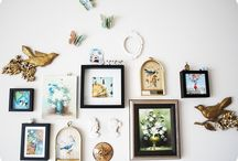 Wall / Art. Knick knacks. Shelves.  Inspiration for how to spruce up the I side / by Ashley Wornell