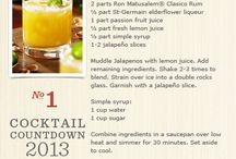 New Years Cocktail Countdown / Seven celestial cocktail recipes for the week before New Years! Cheers to 2014! / by Tommy Bahama
