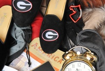 University of Georgia Shoes / UGA Shoes for men and women. University of Georgia logo monogram shoes  / by JP Crickets University and Collection Loafers jpcrickets
