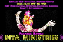 Ordained Drag Minister SisterFace / I Am An Ordained Minister & Emissary HRH- SisterFace Licensed Here To Marry, To Be Able To Join / Unite LGBT Couples From Here & All Over Who Want To Come To Get Married In The State Of Hawaii... Americas True Paradise & Land Of Aloha. Wether It Be A Very Simple Meet & Greet To Sign Papers Or A Easy Beach Wedding, The Top Skies The Limit.. You Just Tell Me Which Character You Want HRH Or SisterFace.  / by HRHSF