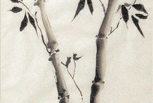 Calligraphy - Sumi-e / Chinese brush paintings  / by Catherine Langsdorf