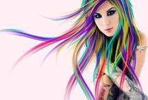 ખḯℓɗ ℭℴℓℴ૨૯ɗ ℋaḯ૨ ✯ / Wild Colored Hair  No Spam or Nudity!!!  Pin & Repin as much as you like. Enjoy & Happy Pinning! / by ᏳᏳ... ✯