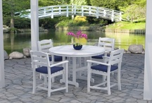 Polywood Outdoor Furniture / 100% American made Poly-Wood outdoor patio furniture is sturdily constructed of recycled plastic lumber. It has the look, thickness, weight, and feel of real wood and it's virtually indestructible and maintenance free. / by Vermont Woods Studios