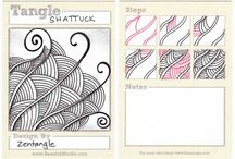 ZenTangle Patterns to Try / Instructions of various Zentangle Patterns / by ♫Lisa A
