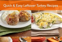 Leftover Turkey Recipes / You have leftover turkey, and we have easy, delicious ideas for what to do with it! / by ReadySetEat