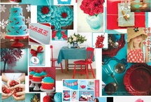 love me some aqua and red / by Nadine Woodraska