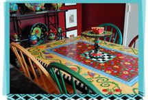 Painted Furniture / #Funky #Painted #Furniture / by Debbie