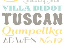 Fonts / by A Spoonful of Sugar
