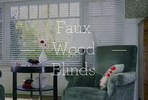 Faux Wood Blinds / Faux Wood Blinds / by Designer Window Fashions