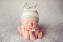 Newborn photography props and inpiration / great ideas for poses and props for newborns / by Kimberly Johnson