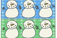 JANUARY / Winter, snowmen, hot chocolate, polar animals, MLK Day / by Katie Phelps