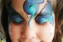 Face Painting Ideas from others / All the pictures are from other painters. They are inspiring to me.  / by Diana Slor ♚
