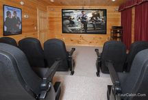 Luxury Movie Theater Cabins / All over the Smoky Mountains we have cabins with movie theaters for your family or group of friends to relax and enjoy the smokies in luxury. / by Timber Tops Luxury Cabin Rentals