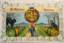 Halloween Postcards & Cards / mostly vintage.   / by Katherine Smith