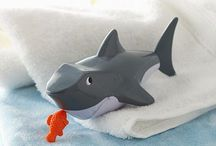 Bath Time for Baby Boys / Cuddly and cute bath products for baby boys. / by Cali Chic Patterns