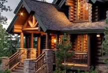 Log cabin homes! / I love these kind of homes. If I were to have a home I would want it to be a log cabin. / by Cynthia Ealey