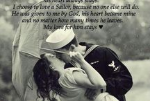 Love my sailor. / My heart is stationed in Hawaii. US Navy Fiance.  / by Chelsea Anne