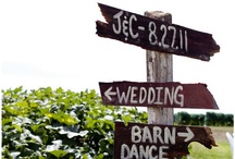 {Weddings} Signs / Signs are a great way to inform guests and decorate! / by Ashley & Matt - Hampton Road Studios