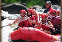 Lower River Rafting / Rafting on the lower Pigeon River is one of the best Attractions in Gatlinburg TN for little kids. It's a 5 1/2 mile trip through the scenic Pigeon River gorge. / by Smoky Mountains