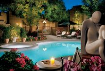 La Posada de Santa Fe Resort & Spa in Santa Fe, New Mexico / Nestled on six beautifully landscaped acres in the heart of Santa Fe, La Posada de Santa Fe Resort & Spa, the Art Hotel, is an intimate retreat that evokes a unique sense of magic and charm.  With its adobe style architecture, colorful gardens and cozy outdoor fireplaces, this AAA Four Diamond Award-winning resort is the ultimate Southwestern escape.  / by La Posada de Santa Fe Resort & Spa