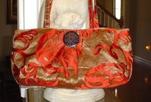 Fabric Purses Designer / ONE OF A KIND , LOVELY fabrics JUST THE RIGHT STYLE AND SIZE !!  / by Pamela Mason