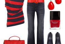 what to wear - red / by Nicka Smith