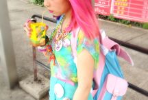 Japanese Street Fashion / Clothes worn by the young ladies of Harajuku / by Sumino Sweets