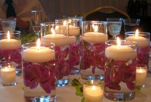 reception centerpieces / by Hussainatu Blake